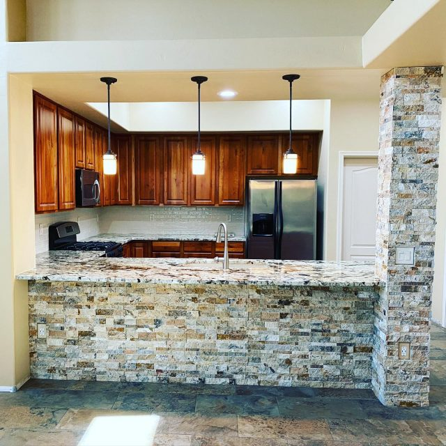 Take a look at this STUNNING kitchen!! This remodel couldn't have turned out anymore perfect! #construction #generalcontractors #kitchendesign #kitchenremodel #homesweethome #familyowned #dreamy