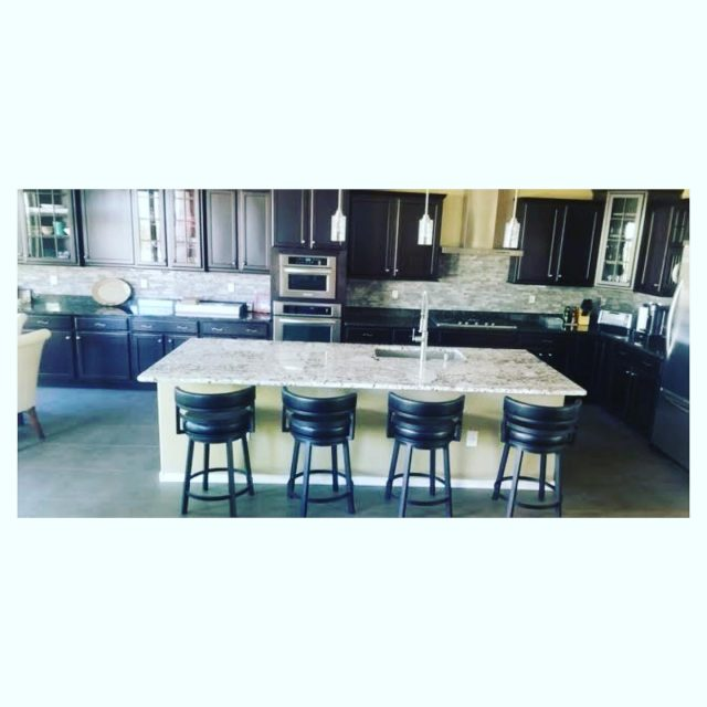 Completed Kitchen Island! Our team did such a great job on this project!  • • Call Us For Free Residential Estimates Today! #kitchendesign #kitchenremodel #homeremodel #kitchenisland #tucson #az #generalcontractor #familyowned