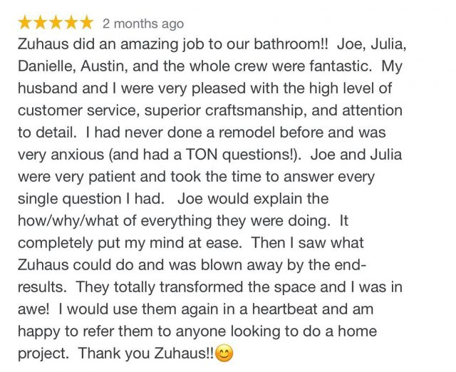 Another 5 Star Review!! ⭐️⭐️⭐️⭐️⭐️  Thank You So Much!   #remodel #bathroomdesign #contractor  #homerenovation #az #tucson #residential #interiordesign #dreamteam #dreamhome